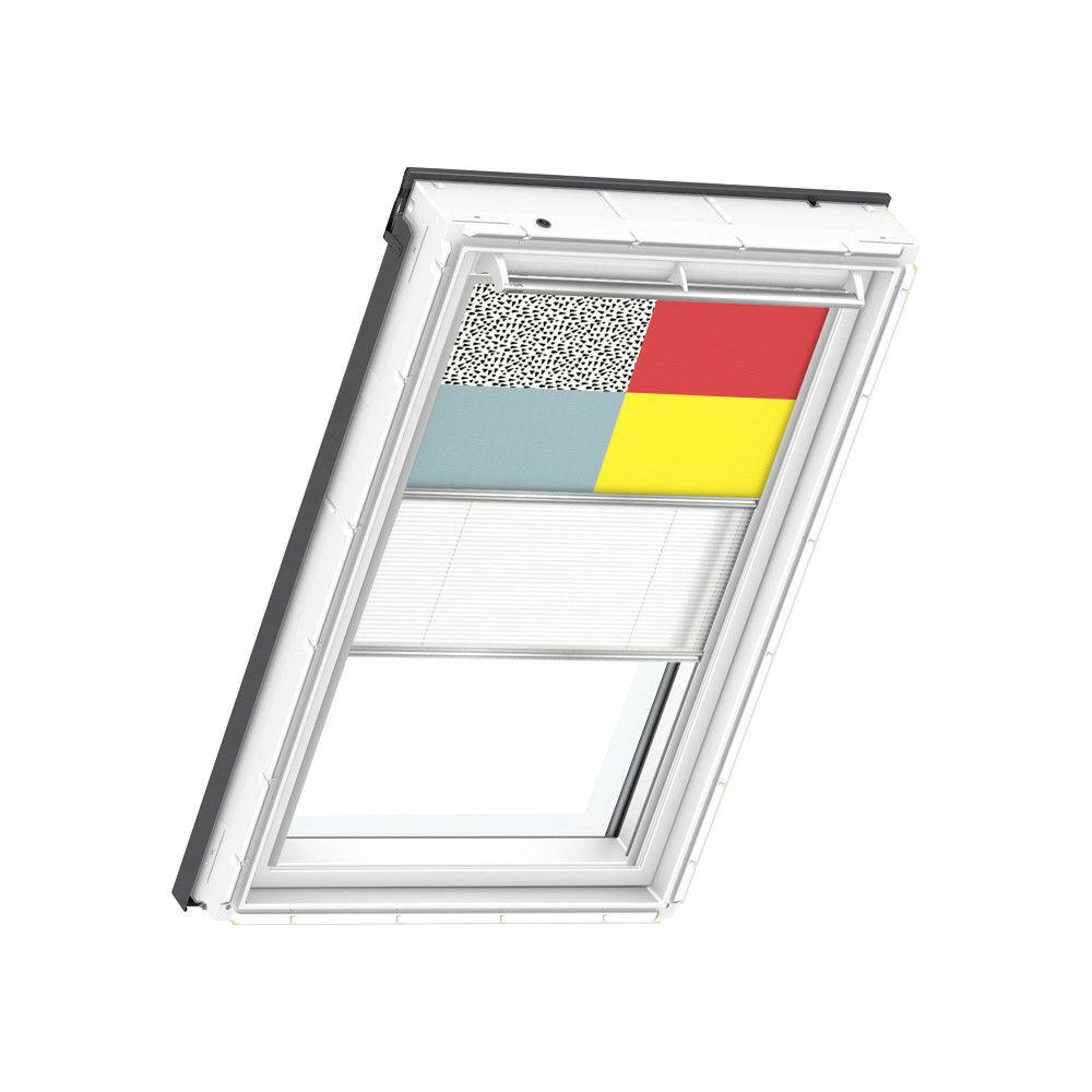 VELUX Vorteil-Set Verdunkelungsrollo + Faltstore DFD Farben5 für GGU GHU GPU GTU