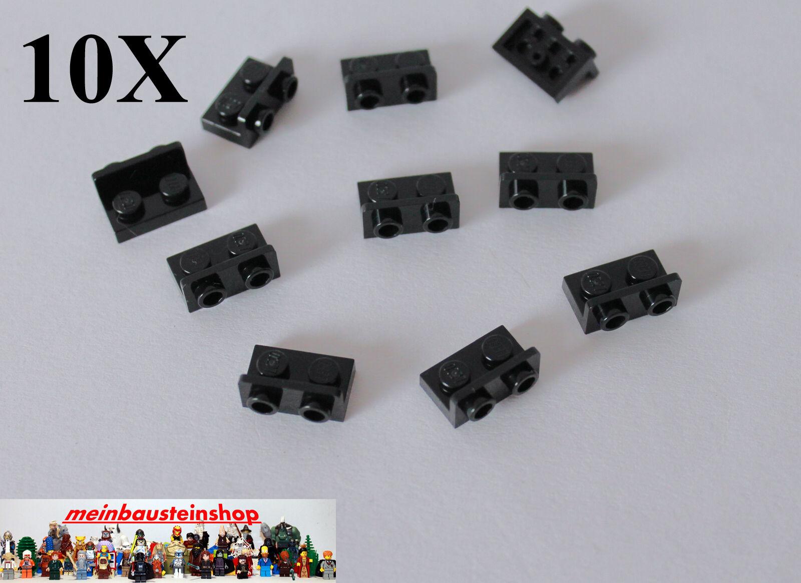 10X Lego® 3069 Fliesen Kacheln Platten Glatt 1X2 neues Dunkelgrau NEU