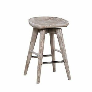 Boraam Bali Backless 24 In Swivel Counter Stool Gray Ebay