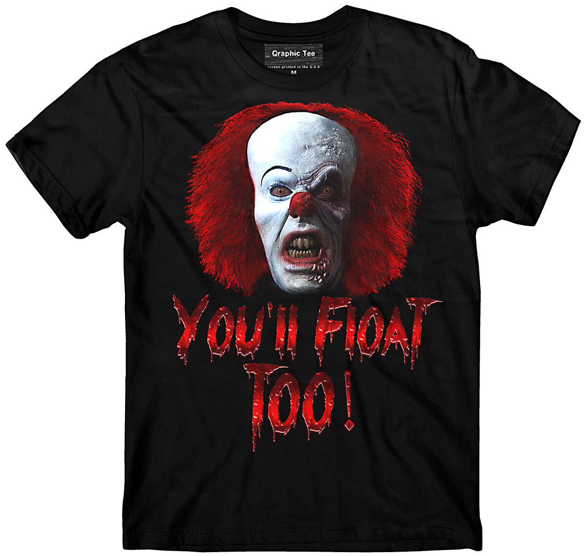 You'll Float Too, No Lives Matter Pennywise Clown, Stephen King's IT Movie Unisex T-Shirt