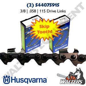 "Husqvarna 36/"" Chainsaw Bar /& 3-chains 3//8 PITCH .058 GAUGE Chain 115 links"