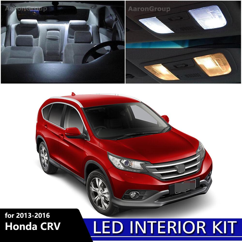 8pcs White Interior Led Bulbs Package Kit For 2017 2016 Honda Cr V Crv