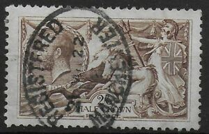 SG413a-2s6d-Olive-Brown-Cleanly-Used-With-Manchester-Registered-Oval-Ref-0757