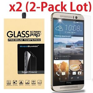 2-PACK-Premium-Real-Tempered-Glass-HD-Clear-Screen-Protector-for-HTC-One-M9