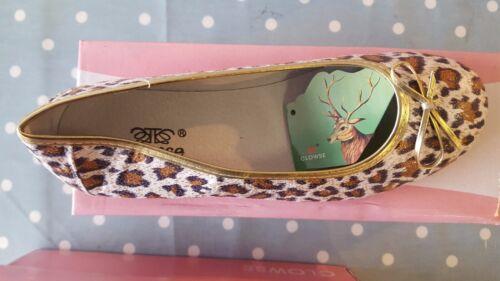 Ladies Clowse Leopard Print Ballerina Style Shoes EU36  LAST FEW  PAIRS REDUCED!