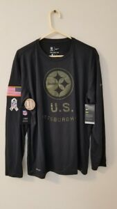 f4366a6c5 PITTSBURGH STEELERS 2018 Nike Salute to Service Tee Shirt Mens 3XL ...