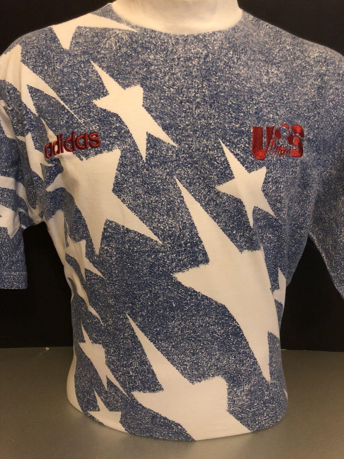 Retro Grande Camisa Adidas Usa Away Vintage 1994 Copa del Mundo