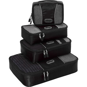 eBags-Packing-Cubes-4pc-Small-Med-Set-5-Colors-Travel-Organizer-NEW