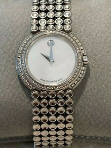 Movado Trembrili Museum84-A1-1810S Ladies Stainless Diamond 28mm Quartz Watch