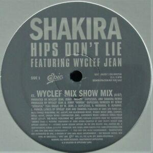 SHAKIRA-WYCLEF-JEAN-034-HIPS-DON-039-T-LIE-034-2006-12-034-VINYL-PROMO-3-MIXES-HTF-SEALED