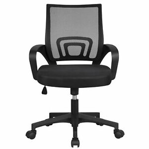 Adjustable-Ergonomic-Mesh-Swivel-Computer-Office-Desk-Task-Chair-Mid-back-Black