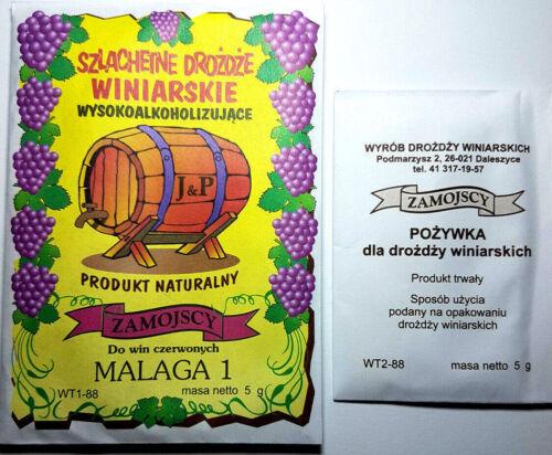 Hefenährsalz  Trockenhefe Univer Wein selbermachen SET Weinhefe Malaga