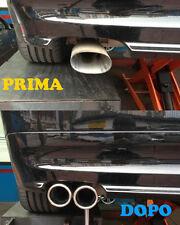 TERMINALI DI SCARICO DOPPIA USCITA ACCIO INOX PER BMW SERIE 3 E90 E91 2005-2011