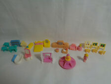 Polly Pocket Blue Box Carry Along Mini Doll House Replacement Furniture One Doll