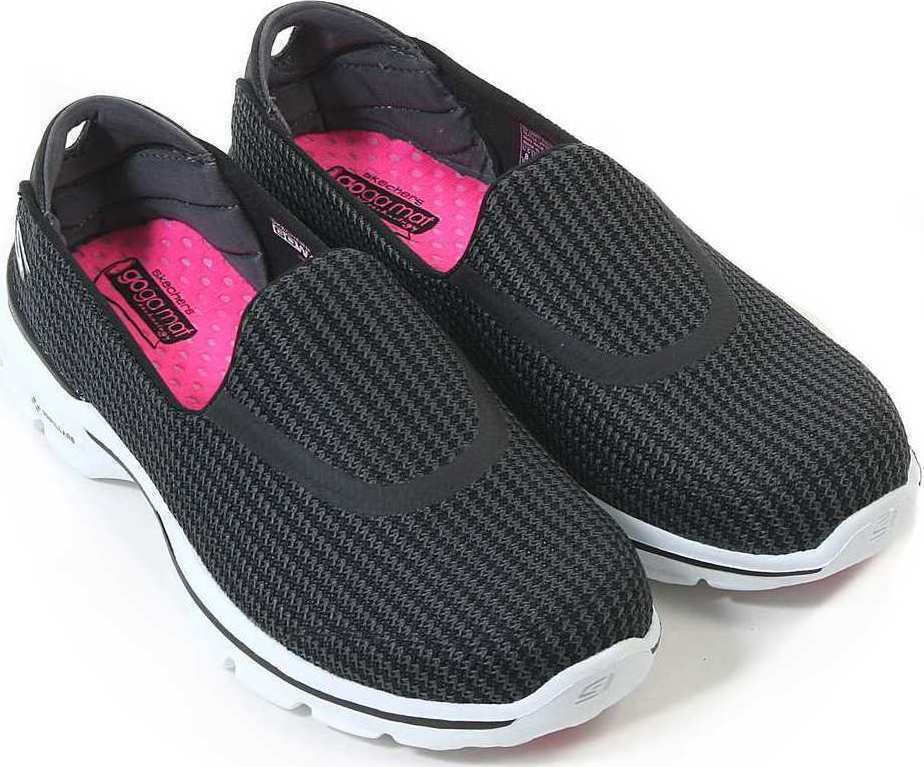 Skechers Womens Go Walk 3- 13980   BKW Black and White Size  UK 3 New Boxed