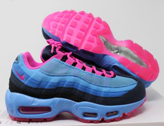 dadb1e8ce3 Nike Women Air Max 95 ID Blue-black-bright Pink Sz 6 818593-991 for ...