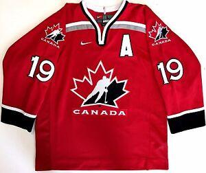 0df441bd69f STEVE YZERMAN 1998 NAGANO OLYMPICS TEAM CANADA NIKE JERSEY L DETROIT ...