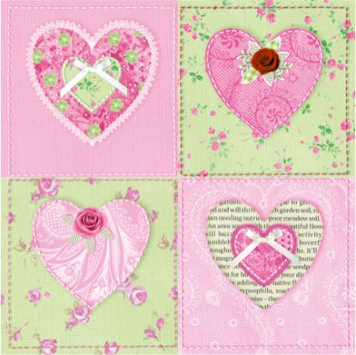 20 Paper Napkins SWEETHEART Tableware DECOUPAGE SHABBY CHIC VINTAGE Cute / D