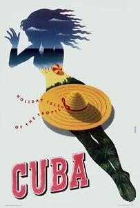 Vintage Cuba Travel Poster A3//A2//A1 Print