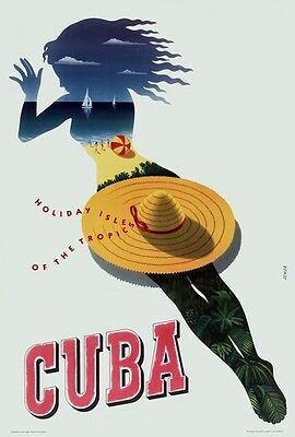 TX267 Vintage 1940's CUBA South America Travel Poster Re-Print A1/A2/A3/A4