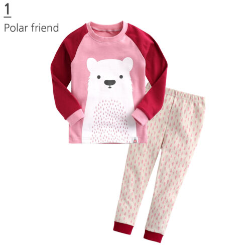 "Vaenait Baby Toddler Kid Girl Boy Clothes Pajama Set /""Polar Leo friend/"" 12M-7T"