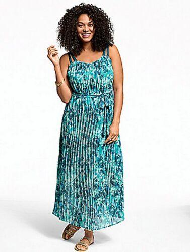 Lane Bryant Pleated Chiffon Maxi Dress sizes 14//16 18//20 22//24 26//28 Versatile