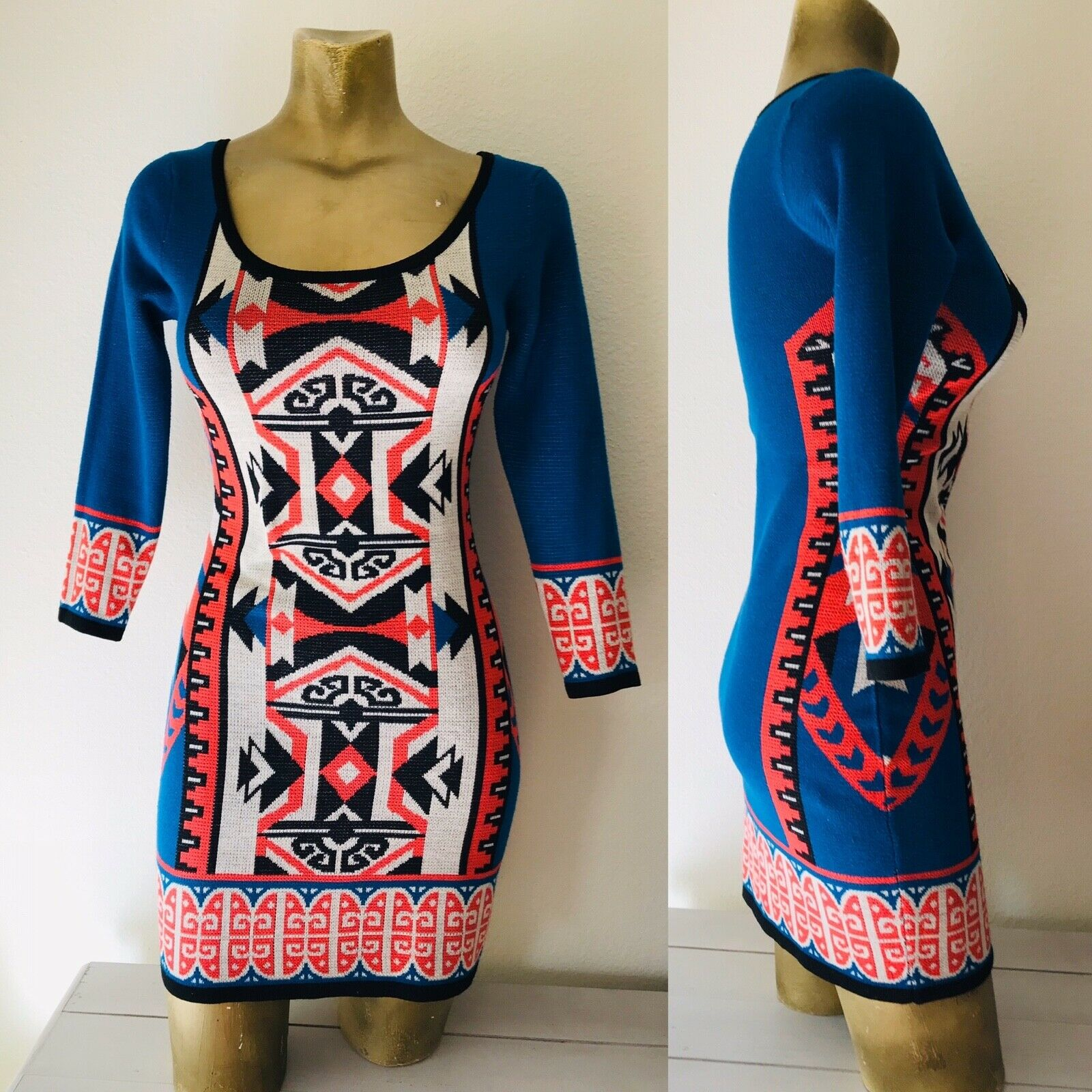 FLYING TOMATO Tribal Print Knit DRESS XS - image 11