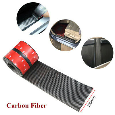 10CM*1M Car Sticker 4D Carbon Fiber Rubber Door Sill Protector Edge Guard Strip