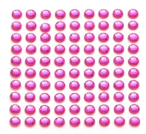 260 x 5mm Self Adhesive Pink Diamante Stick on Crystals Sticky Rhinestone Gems