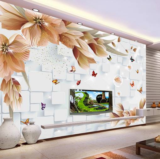 3D Petals Butterflys 7 Wall Paper Murals Wall Print Wall Wallpaper Mural AU Kyra