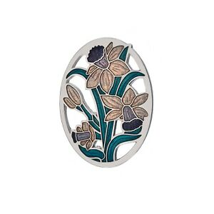 Jewelry & Watches Celtico Triskele Viola Spilla Argento Placcato Nuovo Confezione Regalo