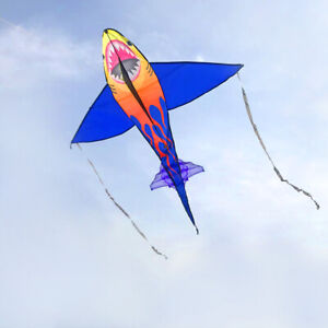 1-4m-animal-shark-Kite-outdoor-Sports-FUN-Toys-novelty-SINGLE-LINE-with-handle
