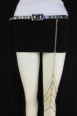 New Women Thigh Gold Pewter Metal Long Leg Chain Garter Fashion Body Jewelry