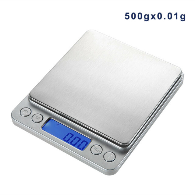 Mini Digital LCD 500g/0.01g Pocket Scale Jewelry Weight Balance Gram Portable