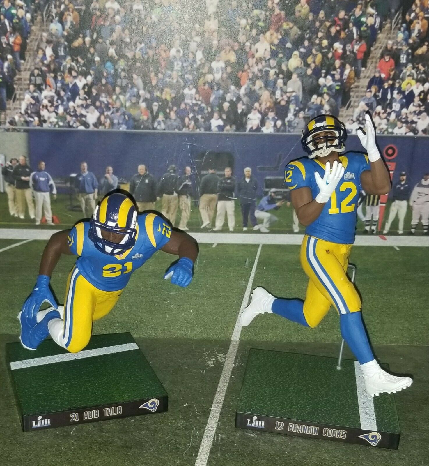 Egen A. Talib DB LA Rams (SB LIII utgåva) Mcfarlane figur
