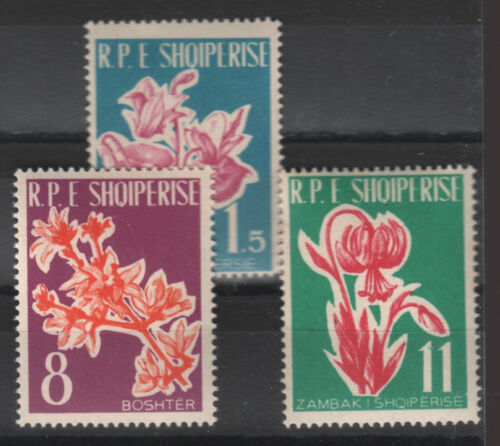 1961 Albania. Albanian Stamps. First Flowers in Albanian Stamps. MNH.