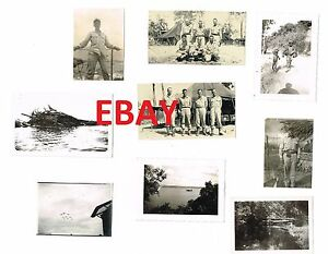 WWII-RARE-5TH-USAAF-NEW-GUINEA-PHOTO-LOT-1944-BASE-VIEWS-479TH-TECH-SQUADRON-1