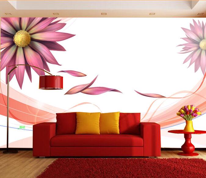 3D Attraktiv Blaumen blüten Fototapeten Wandbild Fototapete BildTapete Familie DE
