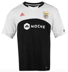 Adidas-Benfica-Lisboa-Portugal-Camiseta-Visitante-2015-2016-Negro-Blanco-Talla