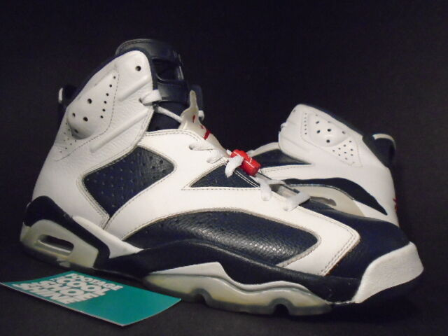 Nike Air Jordan VI 6 Retro OLYMPIC USA WHITE NAVY blueE RED BLACK 384664-130 12