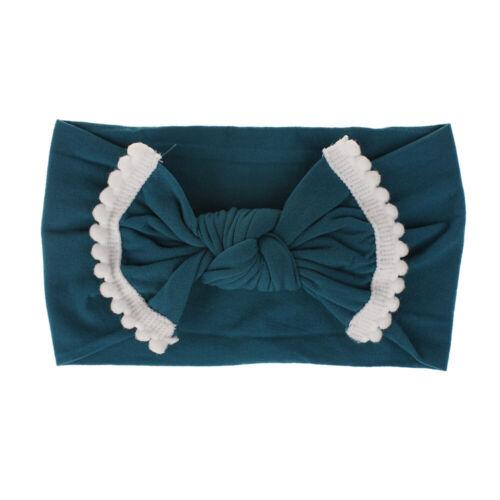 Toddler Girl Kid Baby Big Bow Hairband Headband Stretch Turban Knot Head Wrap