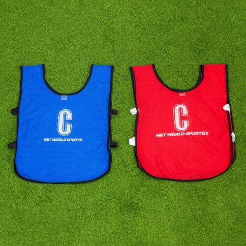 Équipe de netball bavoirsEnsemble Complet de lettres bavoirsToutes les positionsBleu ou Rouge