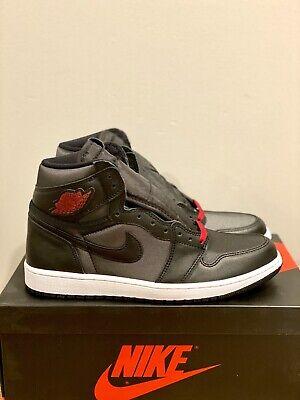 Nike Air Jordan 1 Retro High Og Black Satin Gym Red New Shoes