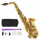 Brand New Alto Eb Saxophone Sax Gold with Case Mouthpiece Reeds Accessories USA