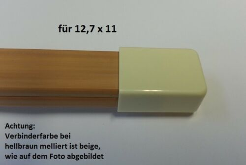 bitte Farbe wählen Verbinder Endstück für Kabelkanal 12,7x11mm