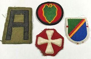USA Lot de 4 patchs