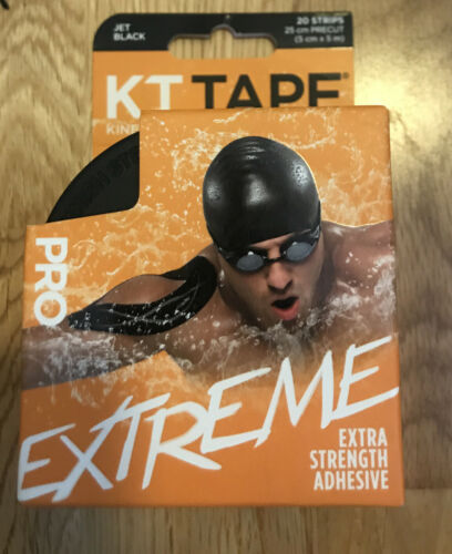 Kt Tape synthétique Pro Extreme 20 estampée noir bandes Extra Strength Adhésif