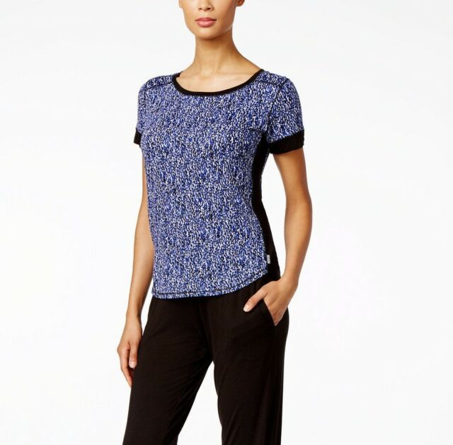 b74a363b57ff6a DKNY Short Sleeve Printed Pajama Top Blue Pattern M for sale online ...