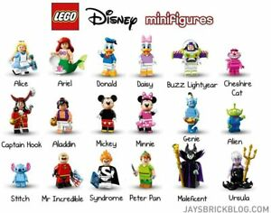 CHOOSE Lego Minifigures DISNEY series 1 Genuine; in pack; cheapest