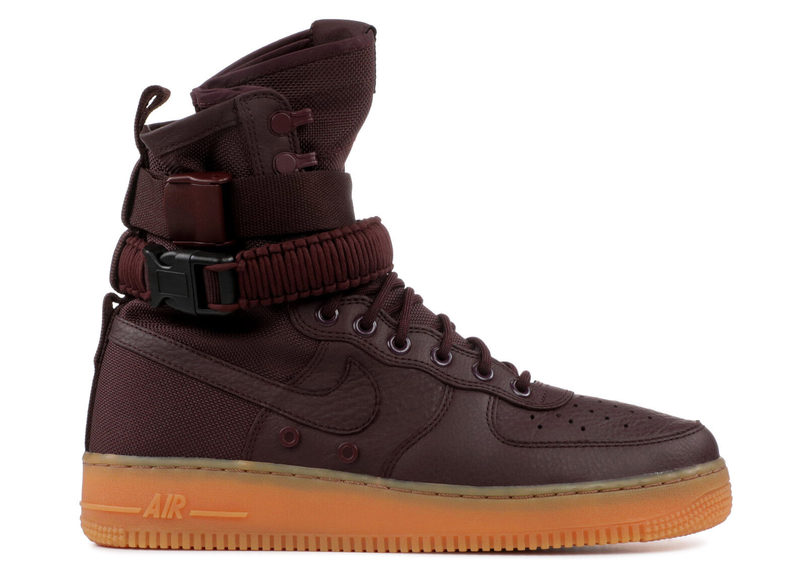 Brand New SF AF1 Deep Burgundy Men's Athletic Fashion Sneakers [864024 600]